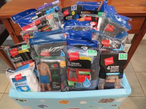 Underwear Drive for Sharing House is a Success!