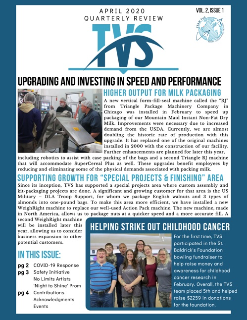 TVS Newsletter — April 2020