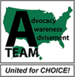 Advocacy awareness advisement team united for choice logo