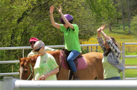 Brevard's Free Rein program provides equine therapy building mental confidencece
