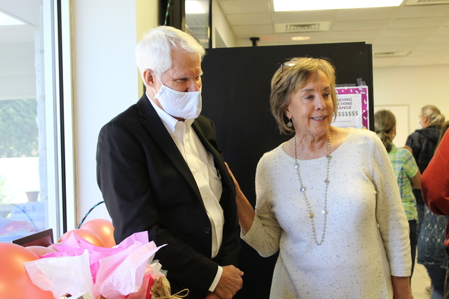 Becky Alderman with husband, Jim Alderman