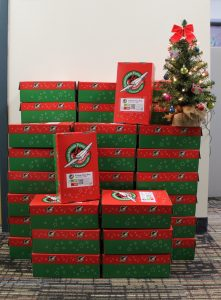 TVS packs 50 shoeboxes for Operation Christmas Child