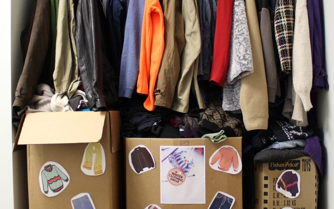 TVS employees clean out closets for winter clothing drive